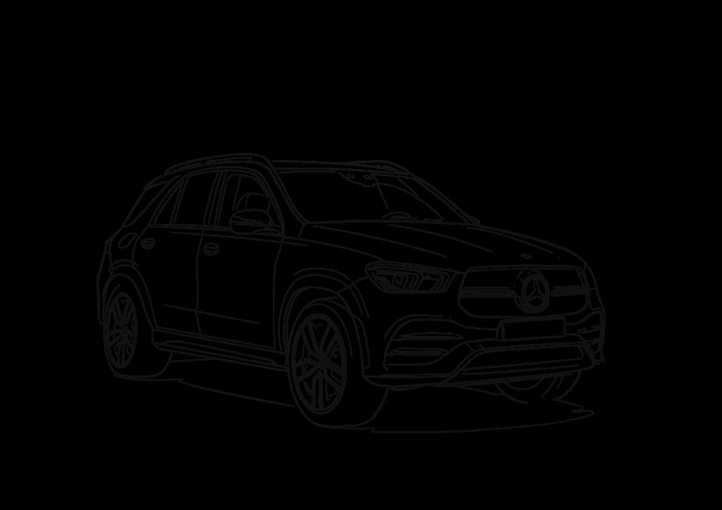 Plantillas para colorear Mercedes-Benz